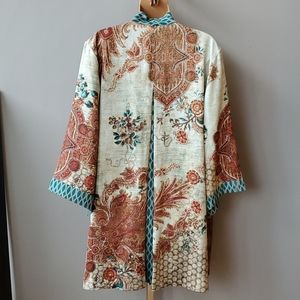 Chico's Sweaters - Chico's Reversible Mixed Floral-Geometric Kimono